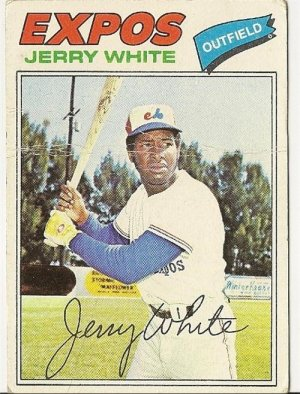 """JERRY WHITE """"Montreal Expos"""" 1977 #557 Topps Baseball Card"""