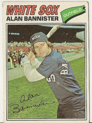 "ALAN BANNISTER ""Chicago White Sox"" 1977 #559 Topps Baseball Card"