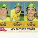 1981 OAKLAND A's FUTURE STARS #96 Topps Baseball Card