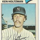 "KEN HOLTZMAN ""New York Yankees"" 1977 #625 Topps Baseball Card"
