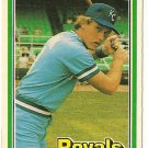 "JAMIE QUIRK ""Kansas City Royals"" 1981 #341 Donruss Baseball Card"