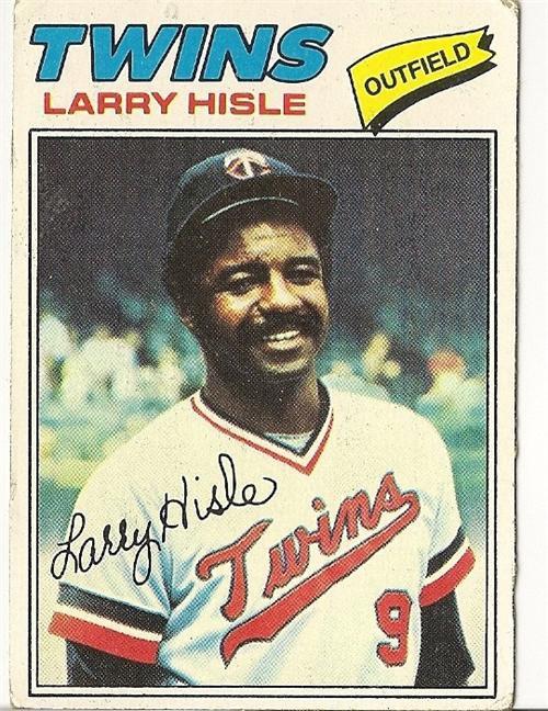 "LARRY HISLE ""Minnesota Twins"" 1977 #375 Topps Baseball Card"