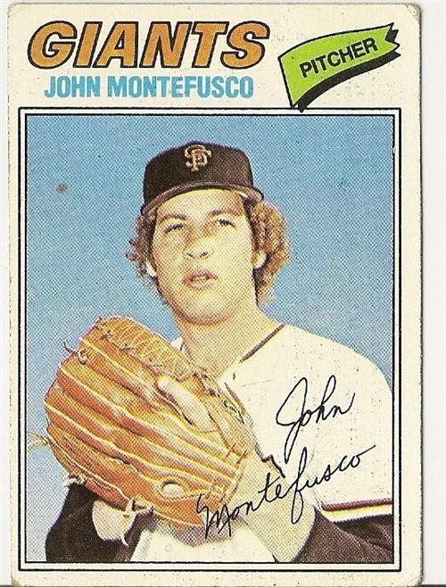 "JOHN MONTEFUSCO ""San Francisco Giants"" 1977 #370 Topps Baseball Card"