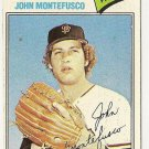 "JOHN MONTEFUSCO ""San Francisco Giants"" 1977 #370 Topps Baseball Card"