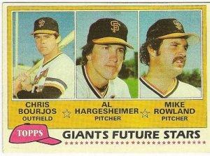 "1981 ""SAN FRANCISCO GIANTS"" FUTURE STARS #502 Topps Baseball Card"