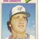 "DAVE LEMANCZYK ""Toronto Blue Jays"" 1977 #611 Topps Baseball Card"
