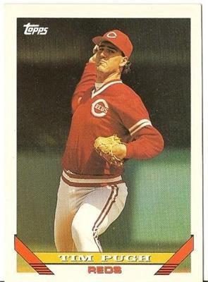 "TIM PUGH ""Cincinnati Reds"" 1993 #702 Topps Baseball Card"