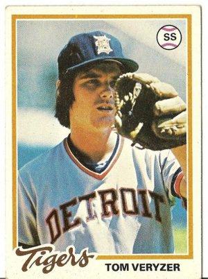 "TOM VERYZER ""Detroit Tigers"" 1978 #633 Topps Baseball Card"