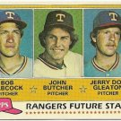 "1981 ""TEXAS RANGERS"" FUTURE STARS #41 Topps Baseball Card"