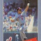"""CARLOS BAERGA """"Cleveland Indians"""" 1993 Continental Baking Company Baseball Card"""