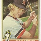 "DAN MEYER ""Detroit Tigers"" #242 1976 Topps Baseball Card"