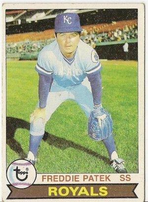 """FREDDIE PATEK """"Kansas City Royals"""" 1979 #525 Topps Baseball Card"""