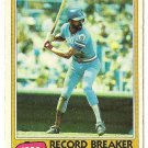 "WILLIE WILSON ""Kansas City Royals"" 1981 #208 Topps Baseball Card"