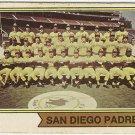 SAN DIEGO PADRES #226 1974 Topps Baseball Card