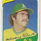 "MICKEY KLUTTS ""Oakland A's"" 1980 #717 Topps Baseball Card"