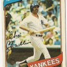 "CHRIS CHAMBLISS ""New York Yankees"" 1980 #625 Topps Baseball Card"