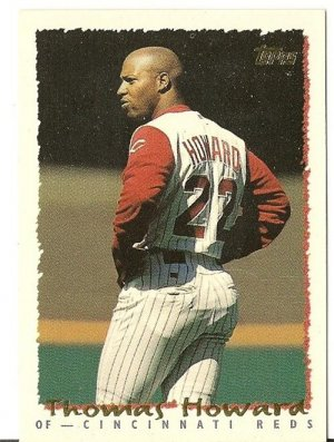 "THOMAS HOWARD ""Cincinnati Reds"" 1994 #381 Topps Baseball Card"
