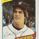 "DAVE ROZEMA ""Detroit Tigers"" 1980 #338 Topps Baseball Card"