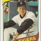 "JACK BILLINGHAM ""Detroit Tigers"" 1980 #603 Topps Baseball Card"