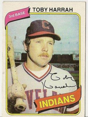 "TOBY HARRAH ""Cleveland Indians"" 1980 #636 Topps Baseball Card"