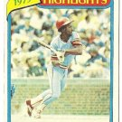 "GARRY TEMPLETON ""St Louis Cardinals"" 1979 HIGHLIGHTS #5 Topps Baseball Card"