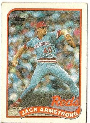 "JACK ARMSTRONG ""Cincinnati Reds"" 1989 #317 Topps Baseball Card"