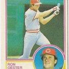"RON OESTER ""Cincinnati Reds"" 1983 #269 Topps Baseball Card"