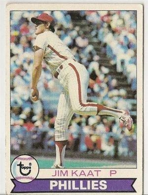 "JIM KAAT ""Philadelphia Phillies"" 1979 #136 Topps Baseball Card"