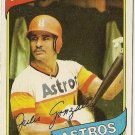 "JULIO GONZALEZ ""Houston Astros"" 1980 #696 Topps Baseball Card"