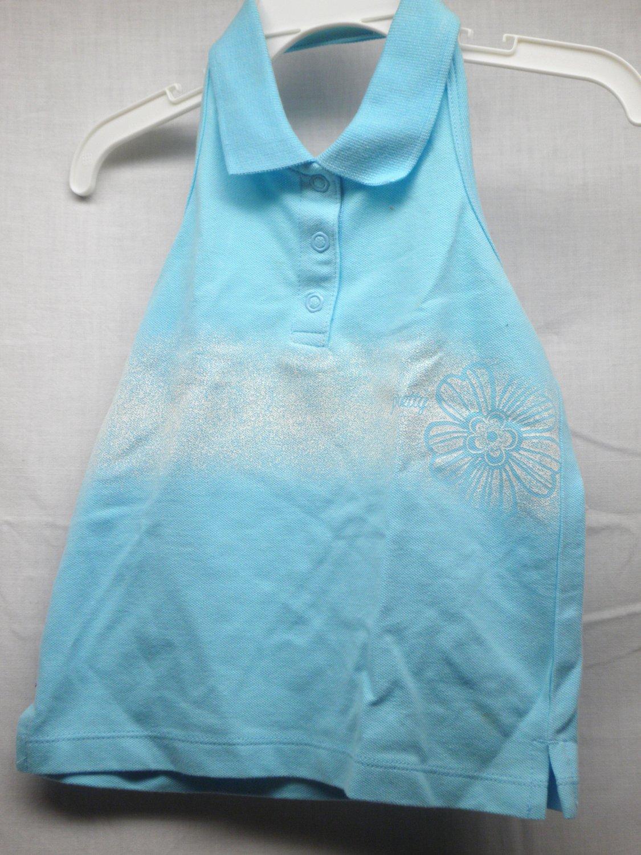 CARTER'S Girls 2T Aqua Halter Polo Top~NWT~Retails $15