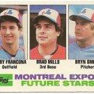 1982 MONTREAL EXPOS FUTURE STARS #118 Topps Baseball Card