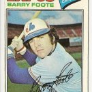 "BARRY FOOTE ""Montreal Expos"" 1977 #612 Topps Baseball Card"