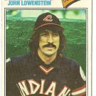 "JOHN LOWENSTEIN ""Cleveland Indians"" 1977 #393 Topps Baseball Card"