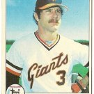 "MIKE SADEK ""San Francisco Giants"" 1979 #256 Topps Baseball Card"
