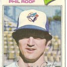 "PHIL ROOF ""Toronto Blue Jays"" 1977 #392 Topps Baseball Card"