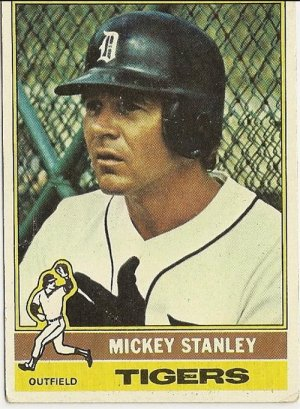 """MICKEY STANLEY """"Detroit Tigers"""" #483 1976 Topps Baseball Card"""