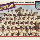 """MILWAUKEE BREWERS"" Team Checklist 1980 #659 Topps Baseball Card"