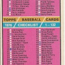 1976 CHECKLIST/1-132  #119 Topps Baseball Card