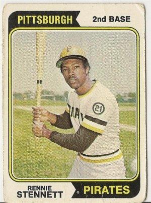 "RENNIE STENNETT ""Pittsburgh Pirates"" 1974 #426 Topps Baseball Card"