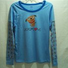 MUDD Girl's Blue Graphic Nightshirt, Size Large 11/13, 100% Cotton, NWT