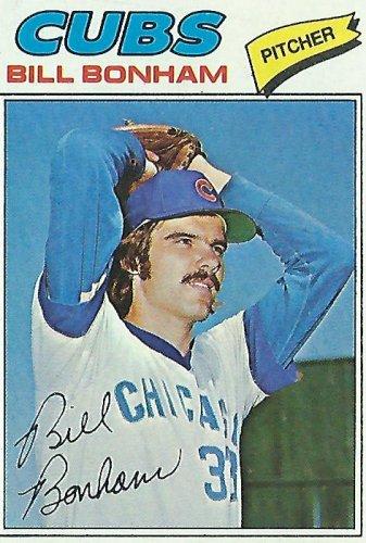 "BILL BONHAM ""Chicago Cubs"" 1977 #586 Topps Baseball Card"