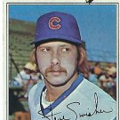 "STEVE SWISHER ""Chicago Cubs"" 1977 #419 Topps Baseball Card"