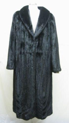 LADIES RANCH FEMALE US MINK LETOUT DIRECTIONAL LONG COAT-66098(SZ 16)