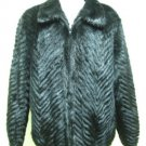 MENS BIG DYED BLACK FEATHERING MINK BOMBER JKT W/MINK COL- 66433(o) SZ 2XL-3XL)