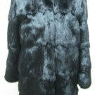 LADIES DYED BLACK SQUIRREL JACKET - 60180   (SIZE S)