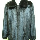 MENS MAHOGANY MINK BOMBER ZIP UP JACKET-66180r(SZ 2XL)