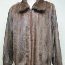 MENS REGULAR  DEMIBUFF MINK BOMBER ZIP UP  JACKET-67004 (SZ XL)