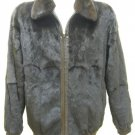 MEN REVERSIBLE PLUCKED MINK/LAMB LEATHER JKT-65441 (SIZE XL )