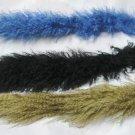 FALL WINTER CHIC FUR TRIM -TIBET LAMB IN COL: BLACK + BEIGE + BLUE