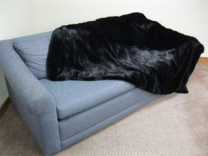 """BED SPREAD - US RANCH MINK SKIN WITH VELVET LINING 72"""" X 48"""" - 59345"""